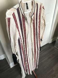 Zara Robe Dress With Belt Size M