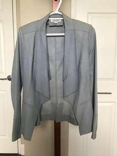 LaMarque Leather Blazer Jacket Size 2