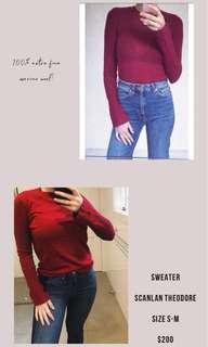 Scanlan and Theodore 100% extra fine merino wool sweater