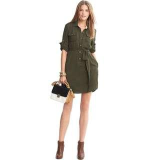 Banana Republic shirt dress sz 0