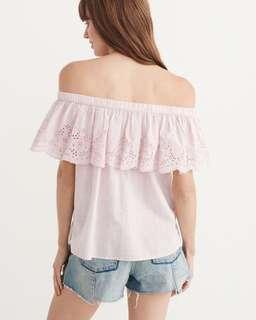 A&F New Off The Shoulder Pink Top!