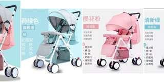 (免運-旗艦版)輕便折疊嬰兒車可坐可躺手推車