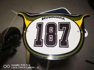 Replica Kuwahara Number Plate for BMX or Escooter.