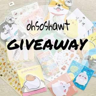 FREE bujo supplies / stickers / stationery / planner supplies giveaway 💕