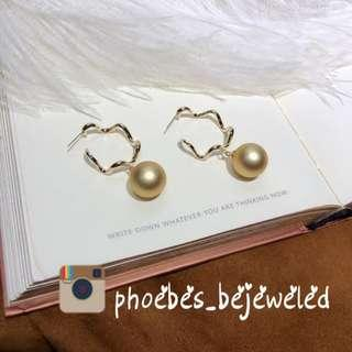 Hypoallergenic vintage ring Pearl earrings