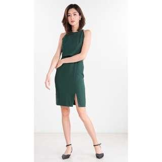 Ninth Collective Selena Dress (Forest Green)