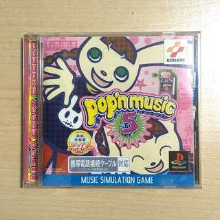 Play Station Video Game Pop N Music 5(舊電玩遊戲/音樂遊戲/Konami)
