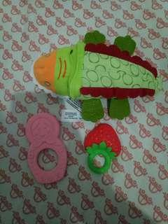 Teether rattle / boneka rattle / boneka teether / gigitan bayi