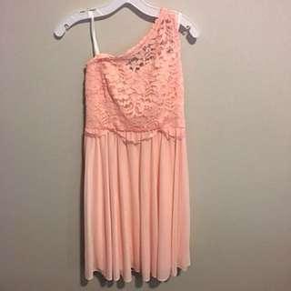 Coral Bridesmaids Dress From Davids Bridal