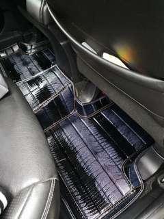 CAR MAT FLOOR P.U LIMITED DARK BLUE