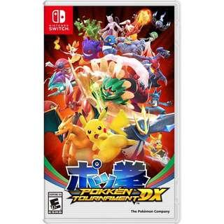 FREE POSTAGE Nintendo Switch Pokken Tournament DX Pokemon Game