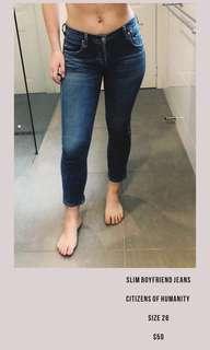 Citizens of Humanity Slim Boyfriend jeans size 26