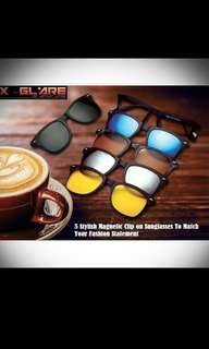 🔥 SALES EXTENDED!! 🔥 😎X- Glare Clip-on Magnetic Sunglasses with 5 lenses design😎