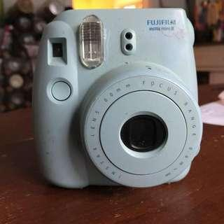 Blue Polaroid Camera