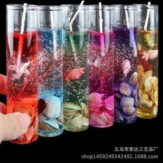 6pcs crystal candle 10cm