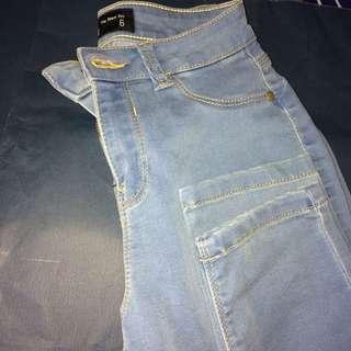 Light coloured blue jeans