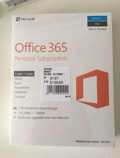 BN and sealed Office 365 Personal Subscription