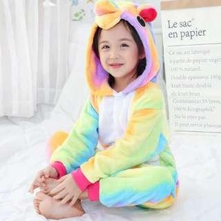 New Arrival Kid Costume Rainbow Series Unicorn  ideal for Halloween, Birthday or Christmas Party
