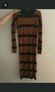 Dress stripe brown bata