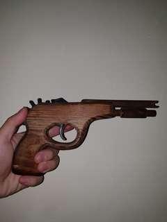 Wooden Rubber Band Pistol Gun