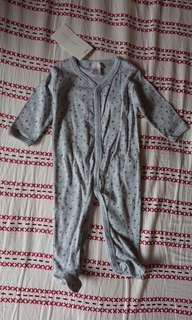 Zara Home 3-6 months kids collection 灰色連腳 蛤乸衣