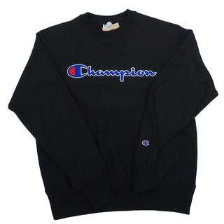 Champion Black Crewneck