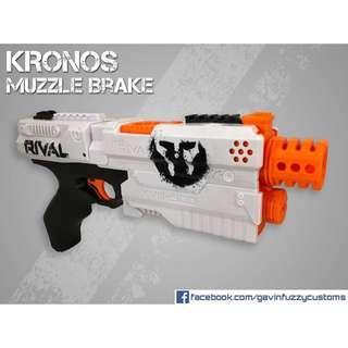 Nerf Kronos Muzzle Brake + 6 Round Mod