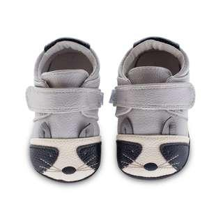 Jack & Lily Shoes - My Mocs Collection (Cutie Raccoon) Baby Leather Shoes