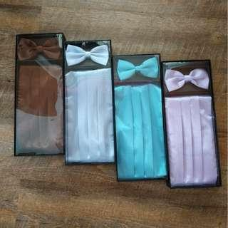 $20 each with box men's cummerbund set with pocket square and Bowtie