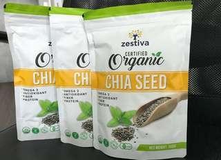Organic Chia Seeds 500g by Zestiva