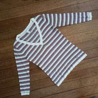 Mango Striped Knitted Blouse