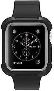 [E598] for Apple Watch Case 42mm, UMTELE Shock Proof Bumper Cover Scratch Resistant Protective Rugged Case for Apple Series 3/2/1 42mm, Nike+, Black/Grey