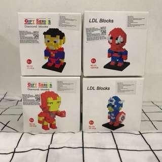 Avengers (Iron Man - Spiderman - Captain America - Spiderman ) Lego Action Figure
