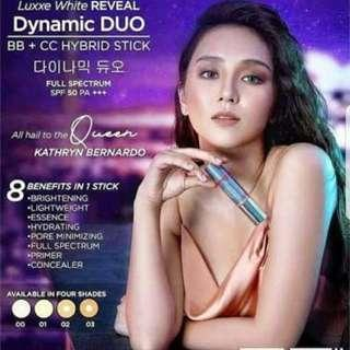 Luxxe White Reveal Dynamic Duo+cc Hybrid Stick-spf 50(bb And Cc Cream) Acne Control