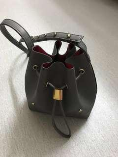 Niko-niko Mini perfect bucket bag colour grey