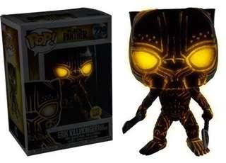 Erik killmonger glow in the dark(with sticker) with free pop protector