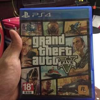 🚚 PS4 GTA5  (中文版)俠盜獵車手 光碟無刮