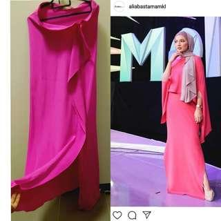 Alia Bastamam fuschia skirt