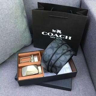 Ready stock: Coach Signature Belt