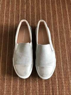 Pull & Bear white grey shoes
