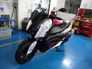 Yamaha Xmax 300. Full Body Wrap. White Camo.