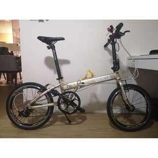 "Lightly Used Garcia Tiger 16"" Foldie Folding 1x9 Speed Bicycle"