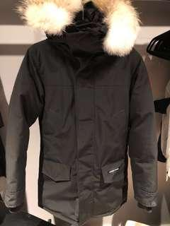 Canada Goose authentic Langford black parka Mens XS with fur trim mid length