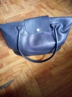 Authentic Leather Long Champ bag
