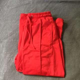 Factories wide leg red pants