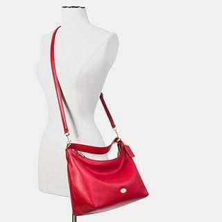 COACH 36628 EAST/WEST CELESTE CONVERTIBLE HOBO IN PEBBLE LEATHER