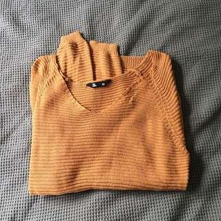 Brown light knit