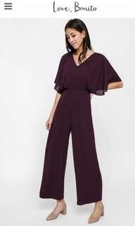 Bnwt Lovebonito LB LYLAS collection jumpsuit in maroon