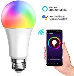 [E602] BellFan Smart WiFi LED Light, E27 8W Smart Bulb No Hub Required, Compatible with Amazon Alexa and Google Assistant, Adjustable and Dimmable Household Light Bulb(White,1pack)