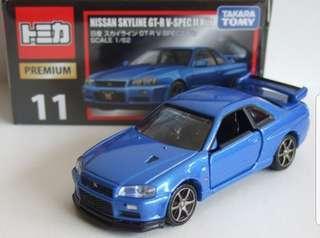 Tomica SKYLINE GT-R V-SPEC II